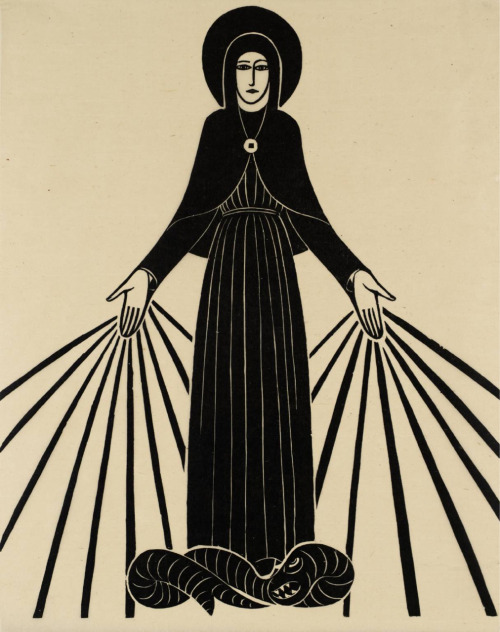 Our Lady of Lourdes by Eric Gill.