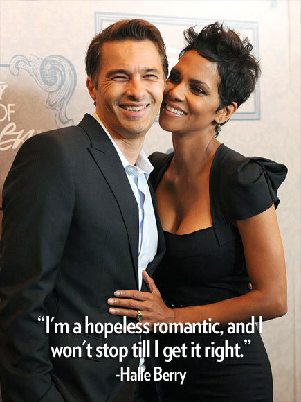 "Celeb Quote of the Week #4 ""I'm a hopeless romantic, and I won't stop till I get it right."" – Halle Berry, whose impending wedding to fiancé Olivier Martinez will mark her third walk down the aisle, to InStyle See more star quotes here!"