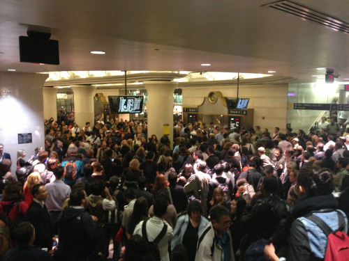 Penn Station at rush hour.