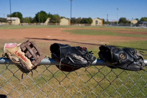 Photo of the Day: Baseball gloves drying in the desert sun after practice at Brawley Union High School. (Photo: Marcus Teply)