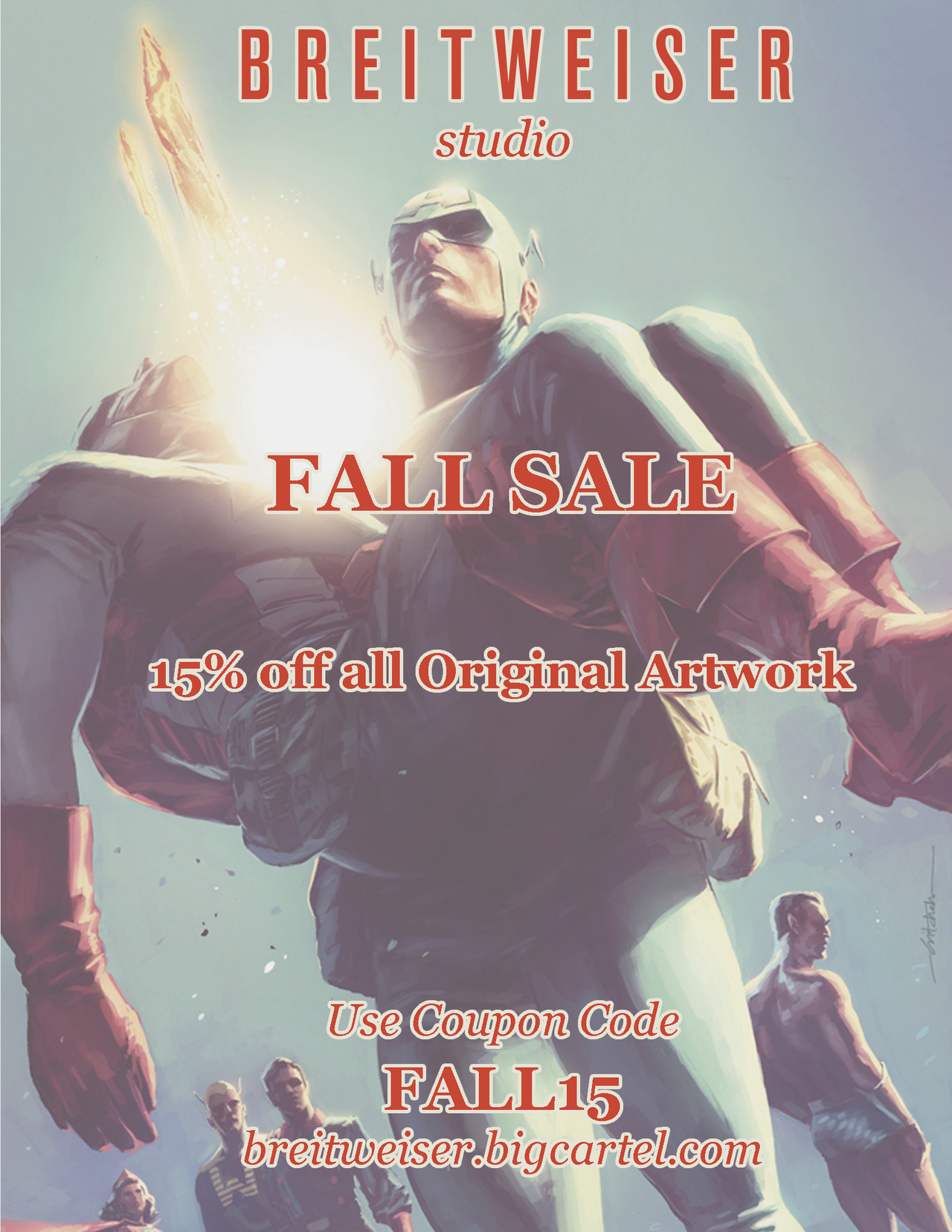 We're running our big fall sale! 15% off all the original art in the shop. There are some great buys and brand new artwork has been posted. Use coupon code FALL15 at breitweiser.bigcartel.com. Thanks!