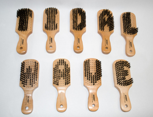 Felandus Thames Tidal Wave, 2009 Altered hairbrushes Dimensions variable