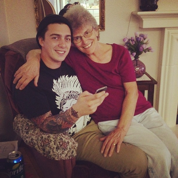 Anthony and his grandma.