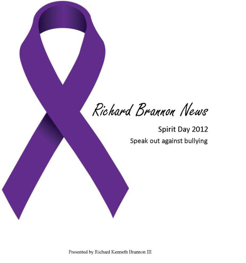 Our logo was changed in correspondence with Spirit Day. Stand with Richard Brannon News and hundreds of thousands across the world as we stand up to bullying! www.facebook.com/RBrannonNews www.twitter.com/RBrannonNews