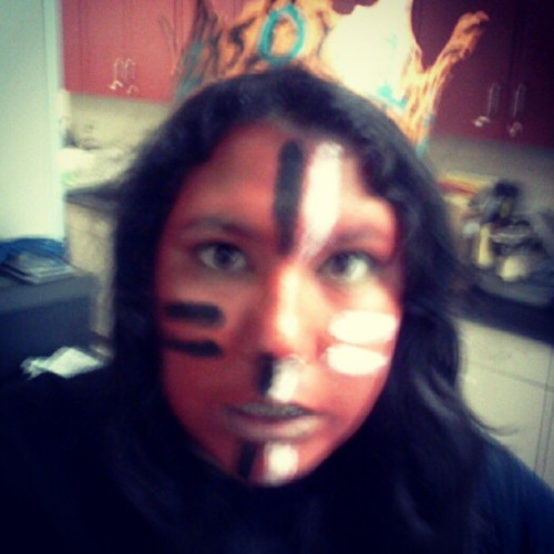 Tear up the Titans!! #red #face #igers #instagood #tiger #pride #paint #black #white #me #awesome #picoftheday #love #2013