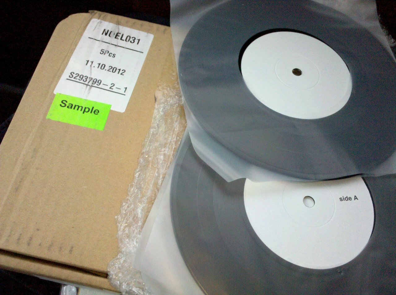 Test pressings for the Sofy Major/Uncle Touchy split…so much hate. http://www.nolistrecords.com/review/noel031/