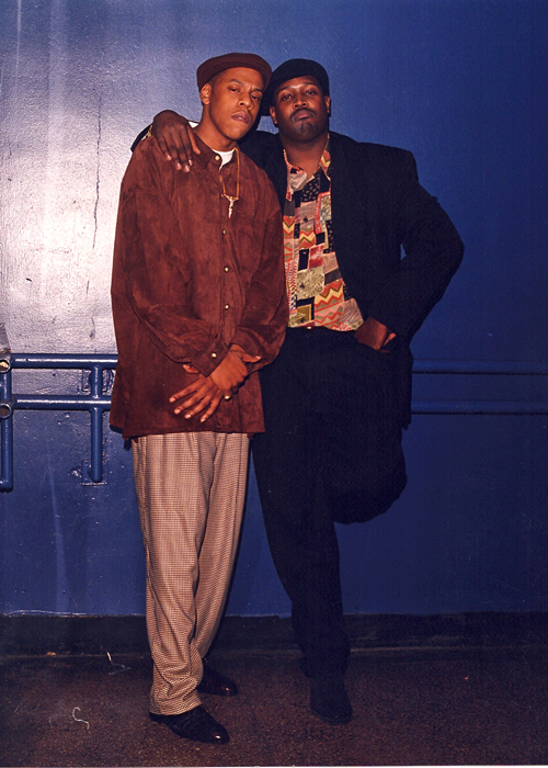 Young Hov in a Kangol and gators, with DJ Clark Kent at The Ritz club inside Studio 54 in New York City. Classic.