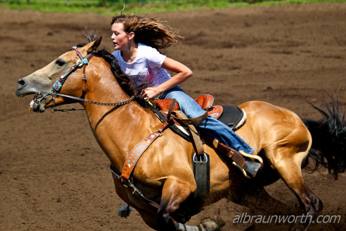 horsep0rn:  Barrel Racing (by Al Braunworth)