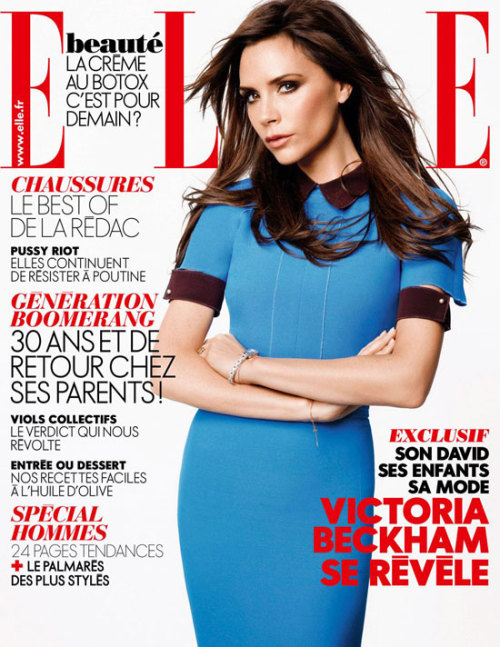 Victoria Beckham for ELLE  France - November 2012 by Karl Lagerfeld   (photo via becauseiamfabulous.com)