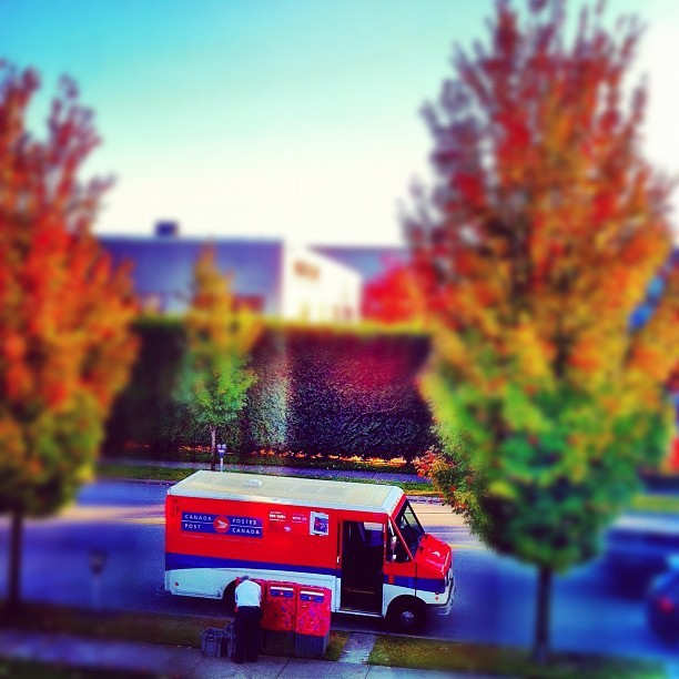 The Postman #instagram #iphoneography #iphonesia #photooftheday #iphone #iphoneonly #jj #instagood #iphone4 #ig #igers #instagramhub #popular #instamood #autumn #vancouver  (at Direct Impact Media)
