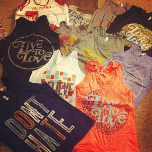 We have so many tanks to choose from and this isn't even all of them! Get 10% off all tanks for only a few more hours with the code 'TANKLOVE' at www.livetoloveapparel.com