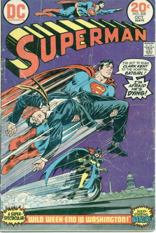 comicbookcovers:  Superman #268, October 1973, cover by Nick Cardy