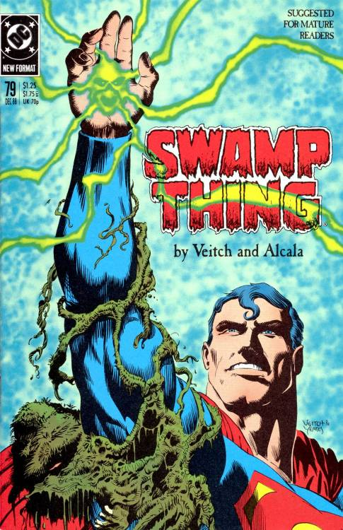 Swamp Thing #75, December 1988, cover by Rick Veitch and Tom Yeates