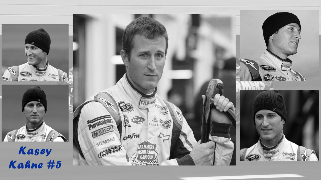 Kasey Kahne Kansas background black and white 1366X768