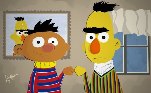 Bert and Ernie  by ~Adam-Leonhardt