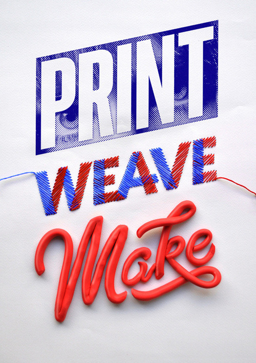 artpixie:  (via Typeverything.com Print Weave Make – ID by Luke Lucas.)