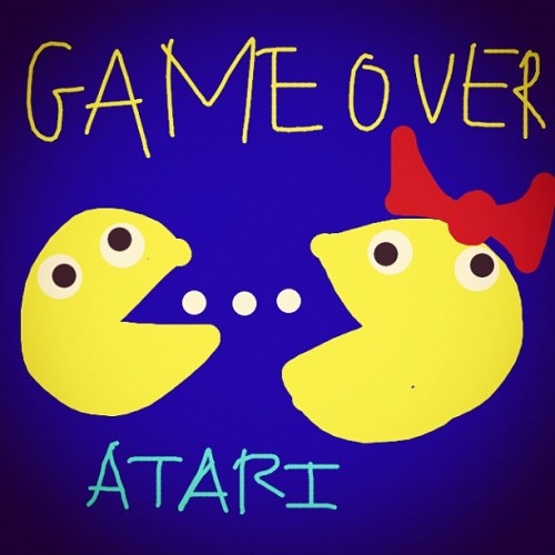 I #drawfree drew #pacman for my cousin Melissa  (at Kalli)