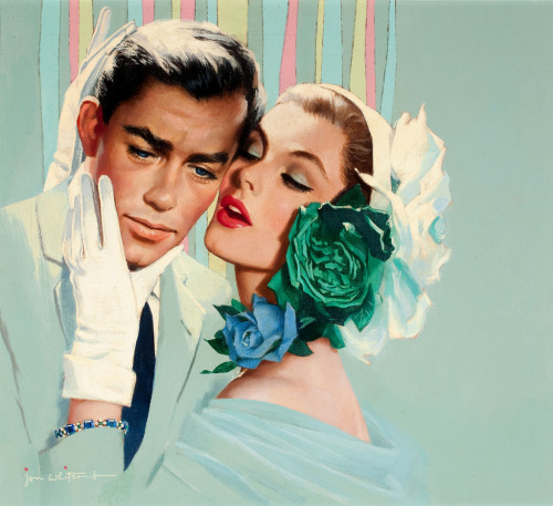 "chloes-vintage-nostalgia:  Jon Whitcomb ""I think I Love You"""