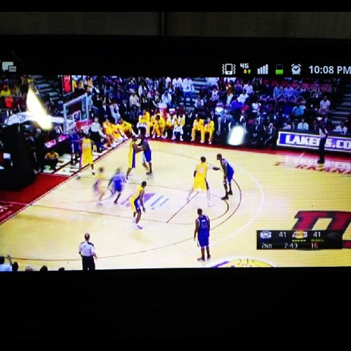 Stuck at work watching my boys play! #Lakers