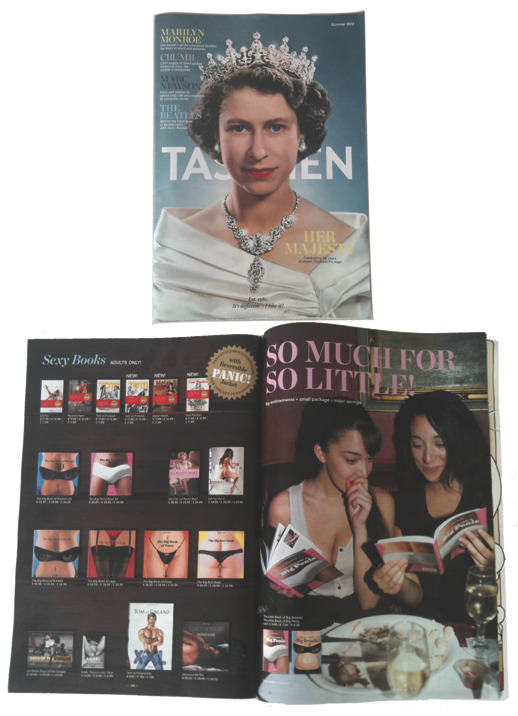 Rachel Roze in advertisement for Taschen Books for Taschen Magazine