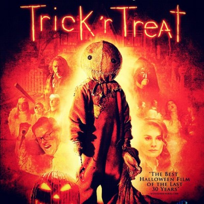 Watching this classic…!!! #TrickRTreat #MichaelDougherty #BryanSinger #LegendaryPictures #WarnerBros #ILikeSam #BluRay #October #Horror #Halloween