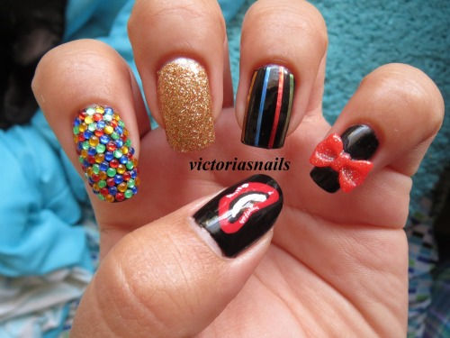 victoriasnails:  Inspired by Columbia from The Rocky Horror Picture Show!