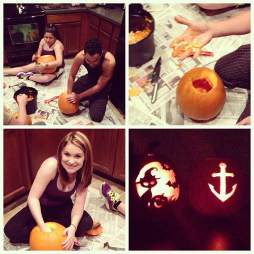 Pumpkin carving with my friends! @raze7887 @kaymturner @velora  #pumpkins #halloween #carving
