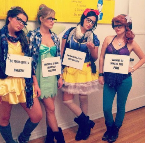 bloodypinata:  hyenaboy:  thedailywhat:  Hipster Disney Princesses IRL of the Day: Because Disney princesses lead such tortured lives. [pleatedjeans]  I WANNA BE WHERE THE PBR  I WANNA BE WHERE THE PBR
