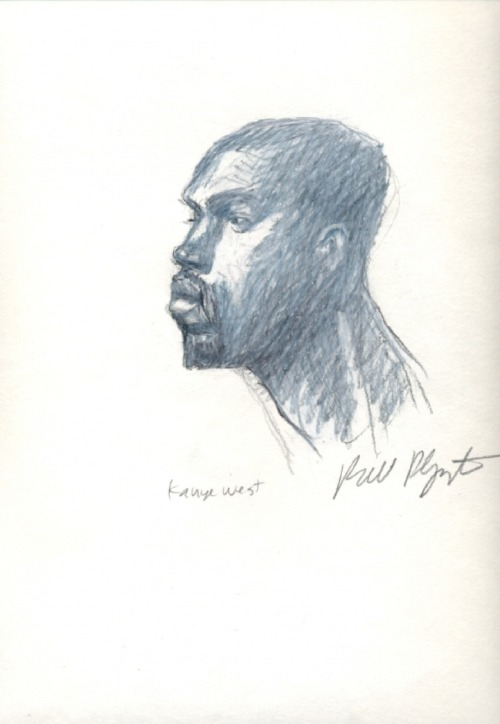 andross:  Kanye West || Sketched by Bill Plympton