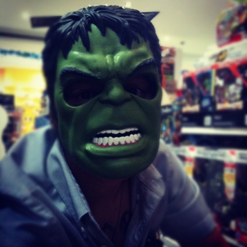 The real me #hulk hahaha!