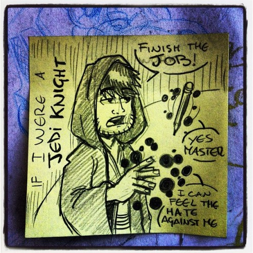 surely this would happen if I were a #jediknight #lol #starwars #postit #lrn