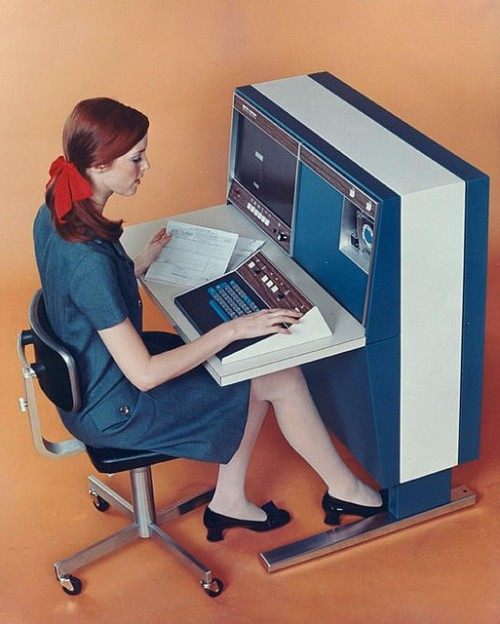 theswinginsixties:  Computing, 1967 style.