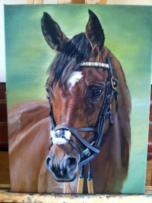 Original Frankel painting supernearly finished! His last race today ^_^