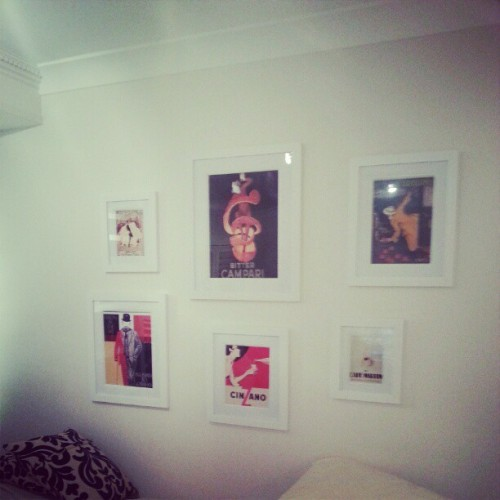 Started my Paris Hang…  Need way more frames #art #vintage #posters #parishang