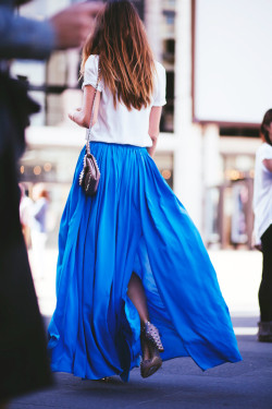 coffeeandlaugh:  Cerulean Maxi Skirt.