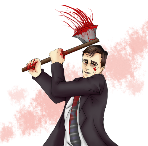 Axe-Crazy Yandere Wilson. Art done 10/19/12