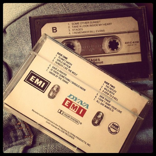 Kuya's 80's and 90's music tapes. Still for the keeps ey? #vintage