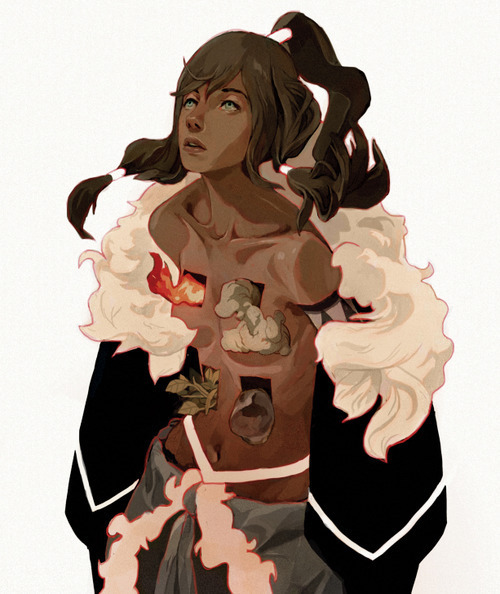 ninjapoptart:  This has to be one of the coolest fanarts I've seen of Korra.