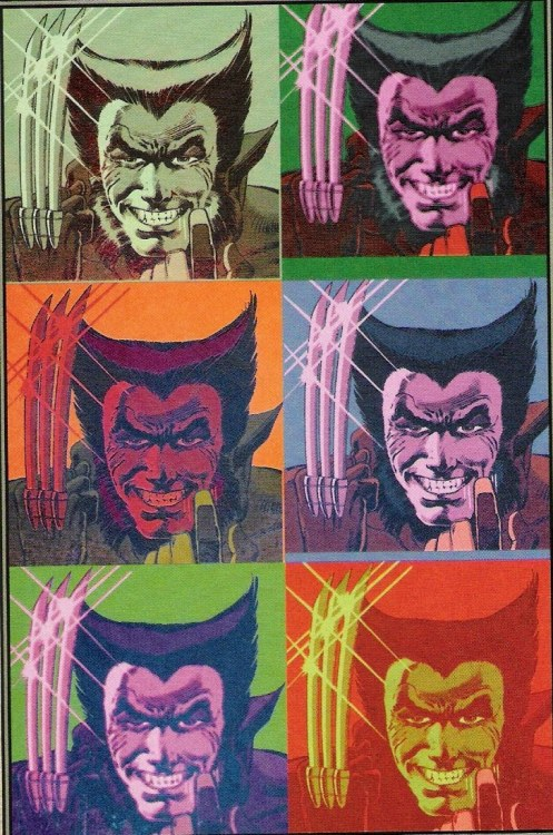 Andy Warhol's Wolverine. By Morry Hollowell.