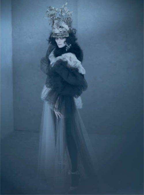 pradaphne:  Tilda Swinton photographed by Paolo Roversi for Acne Paper Fall/Winter 2009.