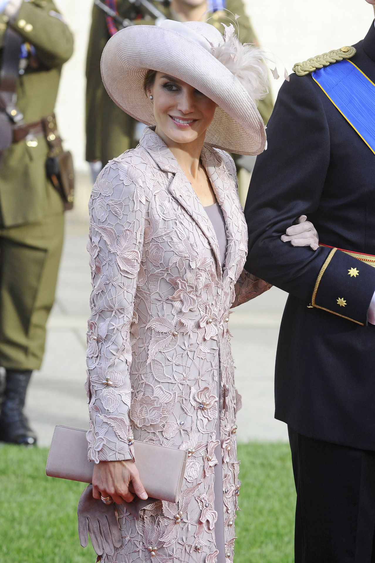 The Princess of Asturias at the wedding of the Hereditary Grand Duke of Luxembourg. October 20, 2012.