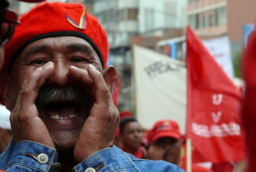 Trabajadores con Chávez by Inmigrante a media jornada on Flickr.