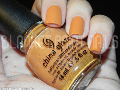 "Color: Desert Sun (China Glaze)Retail Price: $7.00 (USD) This shade is from China Glaze's fall 2012 On Safari collection. It is an orange-brown caramel color with a creme finish. The formula for this shade made it easy to apply, and I needed two coats to achieve bottle color. Speaking of bottle color, Desert Sun dries darker and brighter than it appears in the bottle, though I suppose the ""brighter"" bit is sort of fitting since this shade is named after the sun! If you're looking for something saucy but still work-safe, this might be the color for you! Disclosure: Product sample provided by China Glaze."
