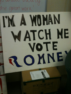 womenformitt:  Hahahahaha there you go liberals. I'm a woman and watch us vote for Romney  love this!!!