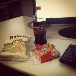 Tech Support does terrible things to me. #junkfood #stereotype #breakfastofchampions (at Cyberinfrastructure Building)