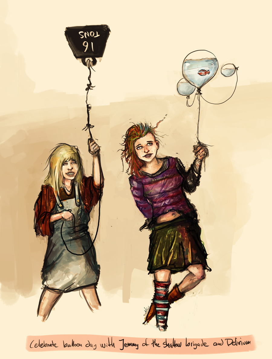 Jemmy of the shallow brigade and Delirium celebrating Balloon Day™.