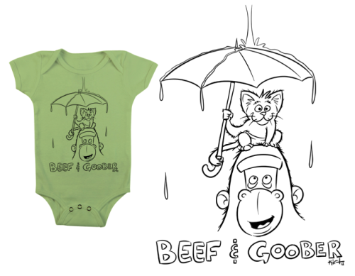 Design for a onesie for my friends' Godfrey and Shaina's new baby boy. Congratulations.