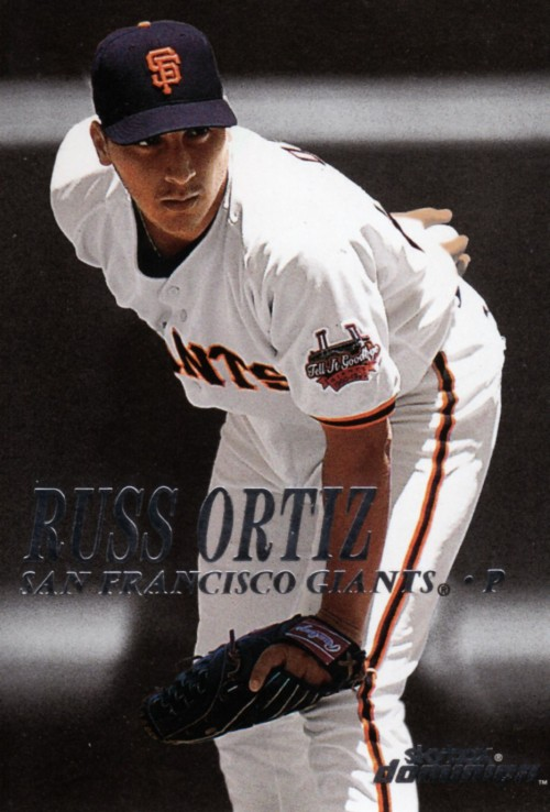 Random Baseball Card #1986: Russ Ortiz, pitcher, San Francisco Giants, 2000, Skybox.