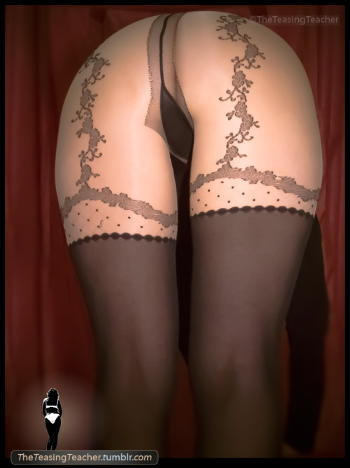 theteasingteacher:  Majesty hose. Pantyhose Series. ©TheTeasingTeacher  The Teacher is serious!
