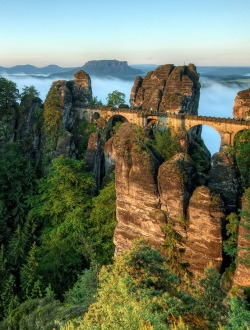 bluepueblo:  Elevated, Bastei Bridge, Germany photo via mai